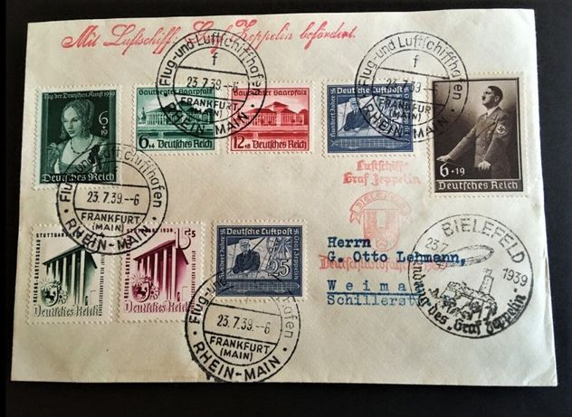 Trzecia Rzesza 1939 - ZEPPELIN- Bielefeld! GRATIS WYSYŁKA!