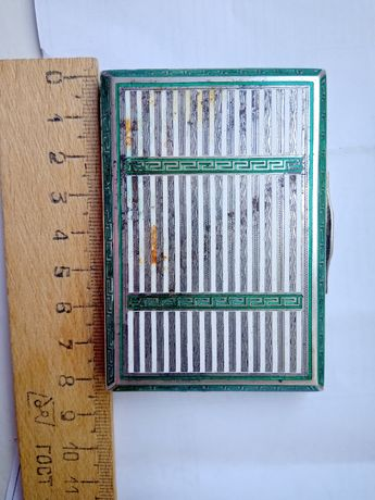 табакерка или шкатулка эмали серебро золочёный 122 гр