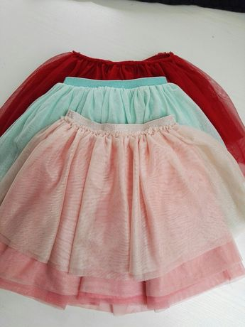 Spódnica tiulowa hm, reserved 3szt