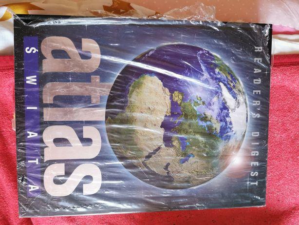Atlas geograficzny Świata oraz inne książki