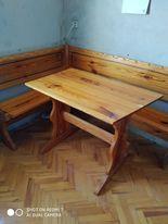 Narożnik drewniany kuchenny, rogówka, stół drewniany