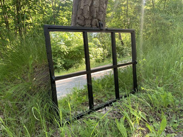 Lustro okno żeliwne loft