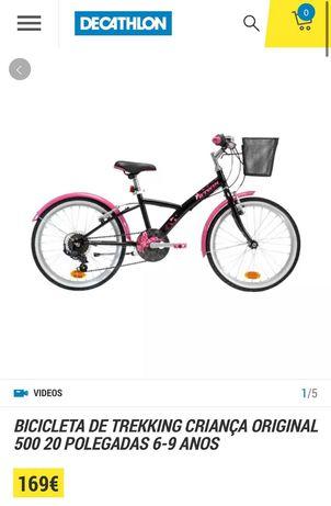 Bicicleta criança 6-9 anos, como nova