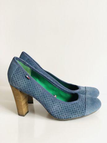 Женские туфли брендовые Томму 25 см жіночі на каблуке замшевые туфлі