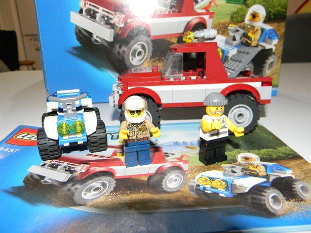 Klocki LEGO City 4437 Pościg policyjny klocki, instrukcja, pudełko.
