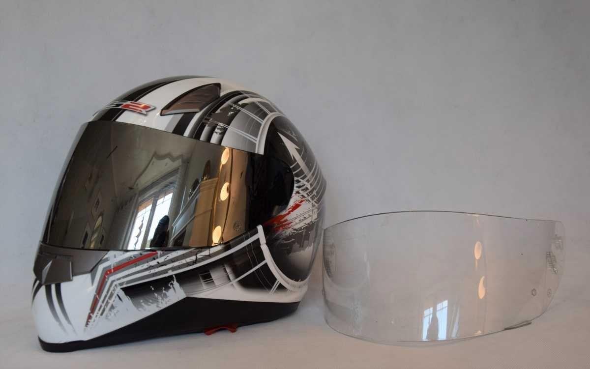 Kask motocyklowy LS2 MOBY r M + szybka chrom!