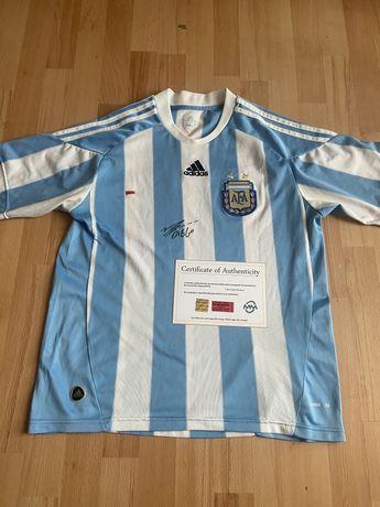 Koszulka Argentyna Diego Maradona oryginalny autograf Certyfikat