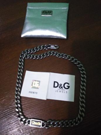 Цепочка на шею, цепь массивная, D&G, Dolce & Gabbana.