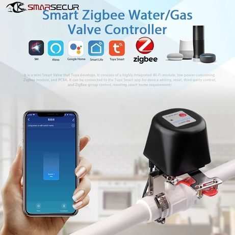 Válvula de agua/ gas Zigbee com transformador