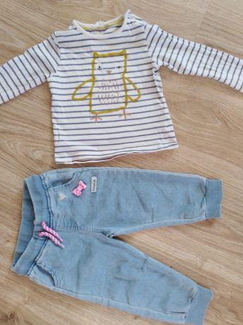 Spodnie, bluzka dla dziewczynki 80