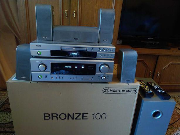 Ресивер Denon AVR-1306+DVD-1720+комплект акустики
