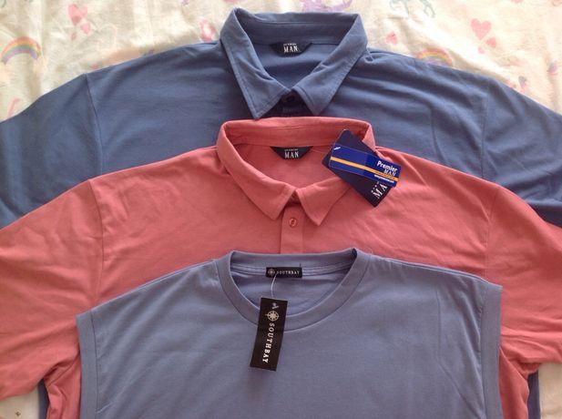 Поло/рубашка/футболка/майка/большой размер новое