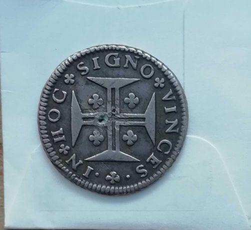Meio cruzado 1689 D. Pedro II AG 61.06