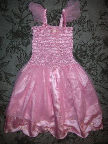 нарядное платье H&M+ободок 4-6 лет Отличное состояние
