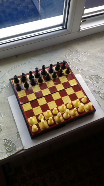Шахматы магнитные, разм. доски 24х24х3,3см; пластик.