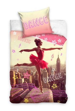Детское постельное белье евро комплект Балерина 140х200