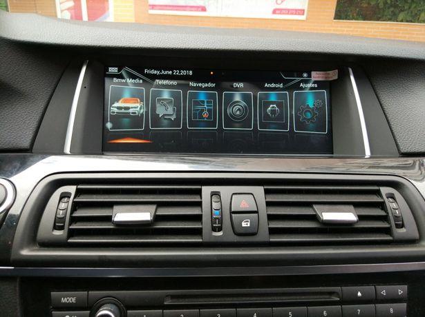 BMW F10 F11 Android gps bluetooth usb wifi 2010 a 2012 montagem grátis