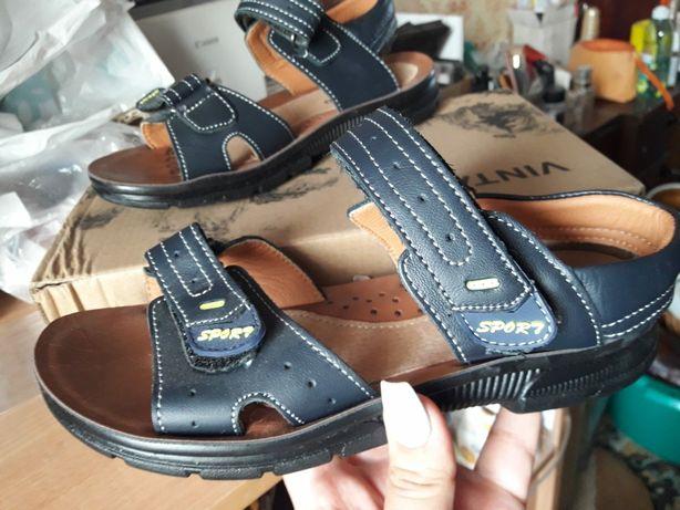 Босоножки КОЖА !!! НОВЫЕ !!! На мальчика обувь туфли 35 размер kimbo-o