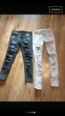 Spidnie rurki jeans