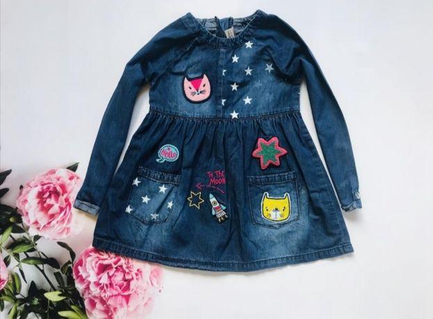 Стильное джинсовое платье TU на девочку 4-5 лет р.104-110