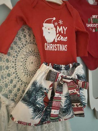 Strój kąplet świąteczny bożonarodzeniowy