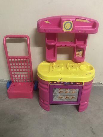 Cozinha para crianca brincar mais carrinho