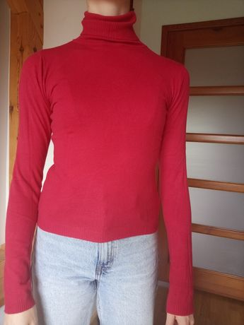 Golf damski czerwony