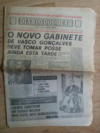 Jornal Diario Popular de 1 de Outubro de 1974