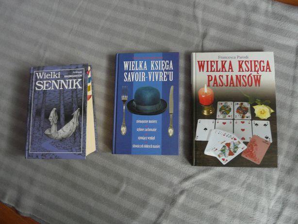 książki sennik, savoir vivre, ksiąga pasjansów