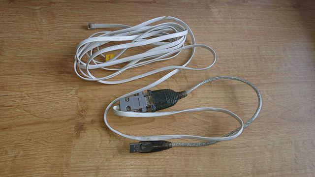 Kabel DB9FC/RJ-KPL + USB do CA5/6/10,Versa firmy Satel i inne