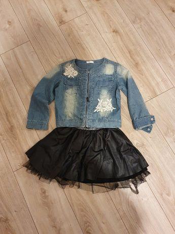 Kurteczka jeansowa + spódniczka