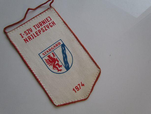Proporczyk I Turniej Najlepszych Stargard herb Kurier Szczeciński 1974