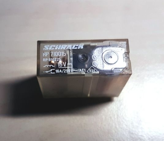 Реле 15 V Schrack RP 710015 (RP 910225) 8 контактов