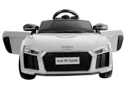 Auto na Akumulator Audi R8 Spyder białe