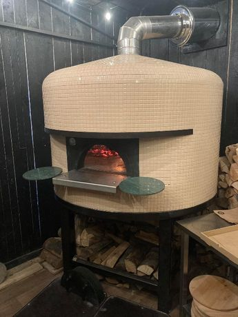 Economico piec do pizzy opalany drewnem - hybryda (drewno/gaz) 6 pizz