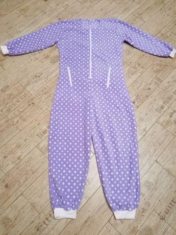 Сиреневый домашний костюм, пижама-слип, человечек, UNA, M, L, 46-48