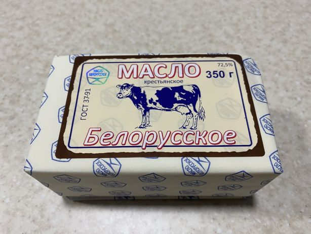 "Масло 72,5% ""Белорусское"" пачка 350 г"
