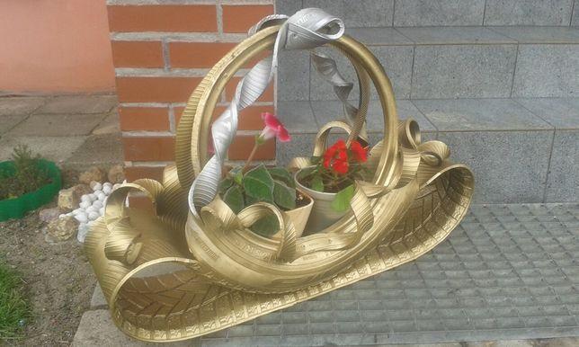 Donica/Kwietnik z opony