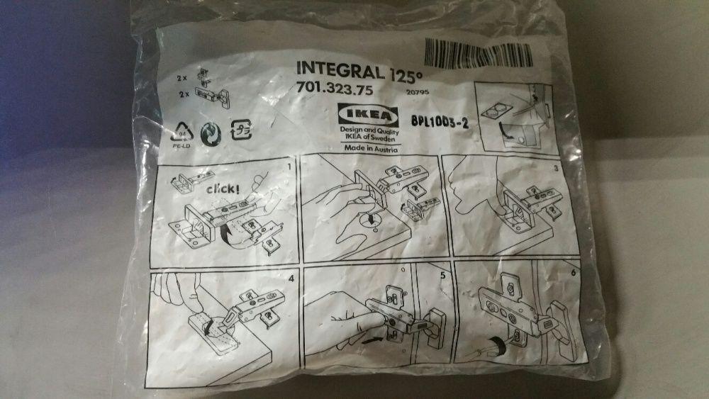 Dobradiças Integral 125º (2 un. p/ saco) x2 Ermesinde - imagem 1