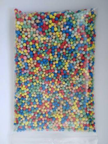 Kuleczki kulki styropianowe kolorowe 0,5 litra