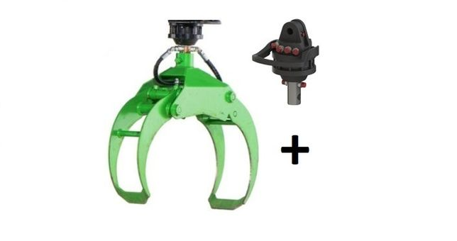 Chwytak 0,18 m3 + Rotator hydrauliczny 1T / Do bali, stosu/ DOSTĘPNE