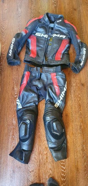 kombinezon motocyklowy skóra Shima STR Odzież motocyklowa ubranie