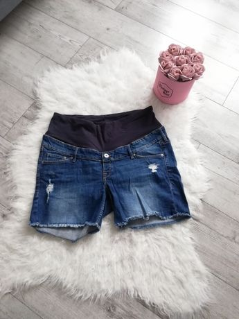 Krótkie spodenki ciążowe jeansy dżinsy
