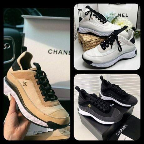 Кроссовки Chanel - Премиум качества ∎ кожа ∎ цвета: White∎ Beige∎ Blac