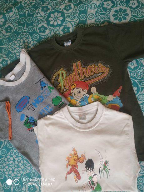 Не дорого 3 футболки для мальчика р.116-122 5-6-7 лет.