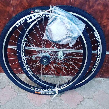 Вело колёса комплект 20.24.26.28 дюймов на планетарной втулке shimano