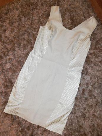 Sukienka biała elegancka BODYFLIRT 40 L
