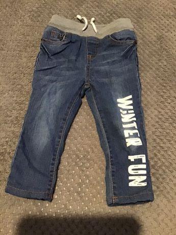 Spodnie ocieplane na zimę chłopiec rozmiar 86, So Cute.