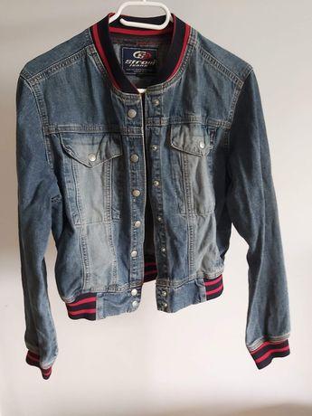Kurtka jeansowa ze ściągaczami