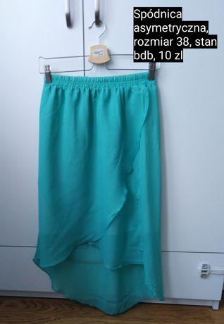 Spódnica asymetryczna mietowe rozmiar M